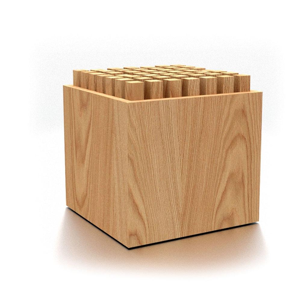 Eiche| NOHrD HedgeHock Sitzwürfel aus Holz
