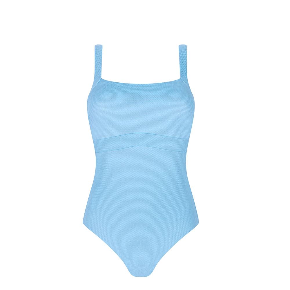 Amoena Charlie OP Badeanzug hellblau Ansicht vorne