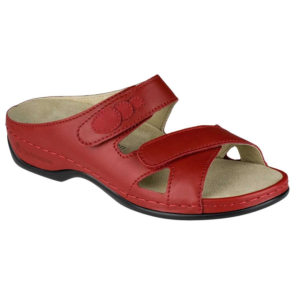 rot| Berkemann Pantolette Felia in kräftigem Rot