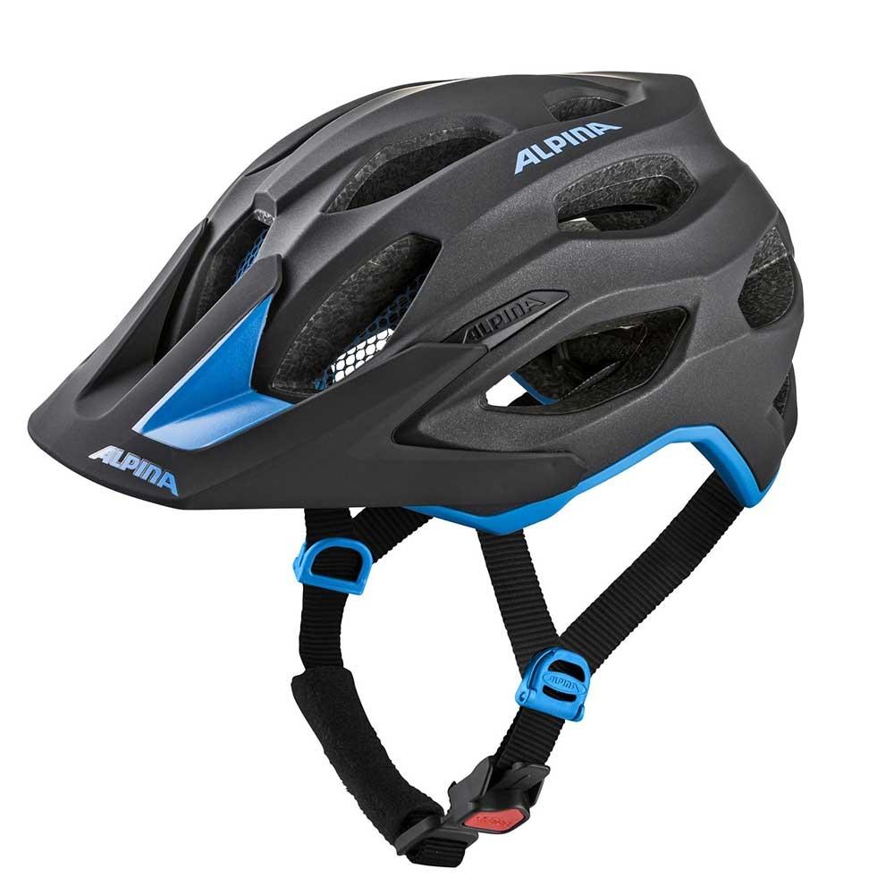 black-blue| Alpina Carapax Mountainbike-Helm in Black-Blue