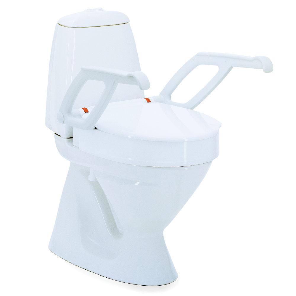 Invacare AQUATEC 90000 Toilettensitzerhöhung, in 3 Sitzhöhen bestellbar, Farbe: Weiß