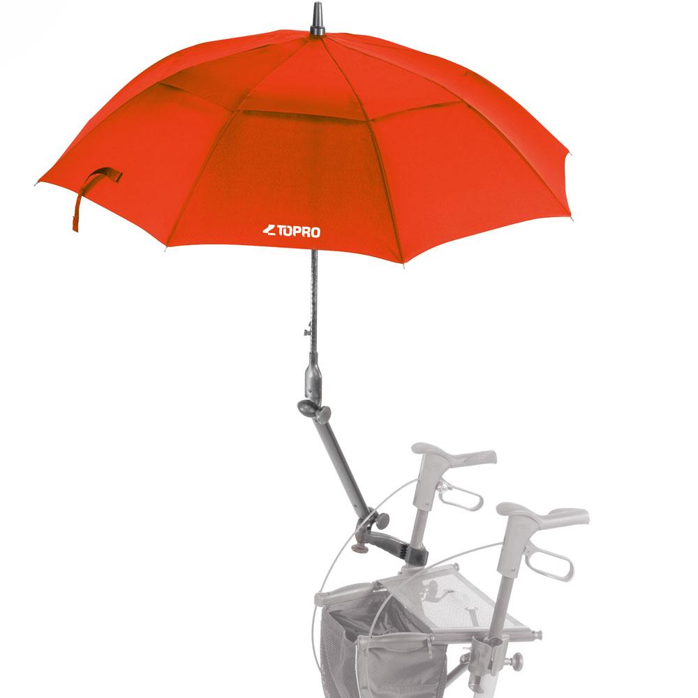 Schirm mit Multifunktionsarm für TOPRO Troja Classic in rot
