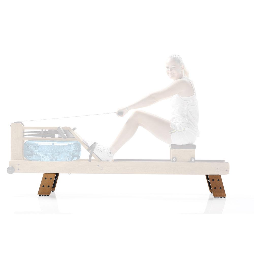WaterRower HiRise Adapter, Standfüße aus Holz zur Erhöhung der Sitzposition um 20 cm, verfügbar in Eiche, Esche, Kirsche und Nussbaum