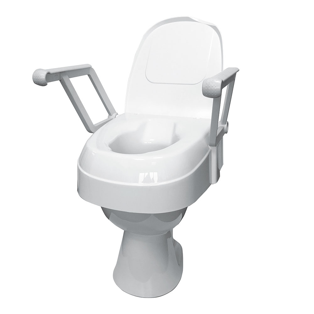 Drive Medical Toilettensitzerhöhung TSE 120 mit Armlehnen und Deckel