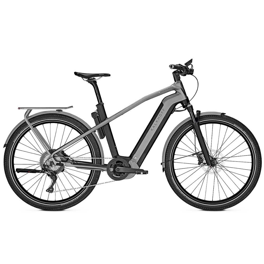 grau| Kalkhoff Endeavour 7.B Advance Trekking E-Bike, Herrenrahmen, Farbe: Magicblack / Jetgrey matt