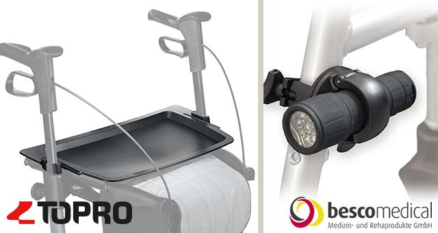 Finden Sie das passende Zubehör für Rollator & Rollstuhl