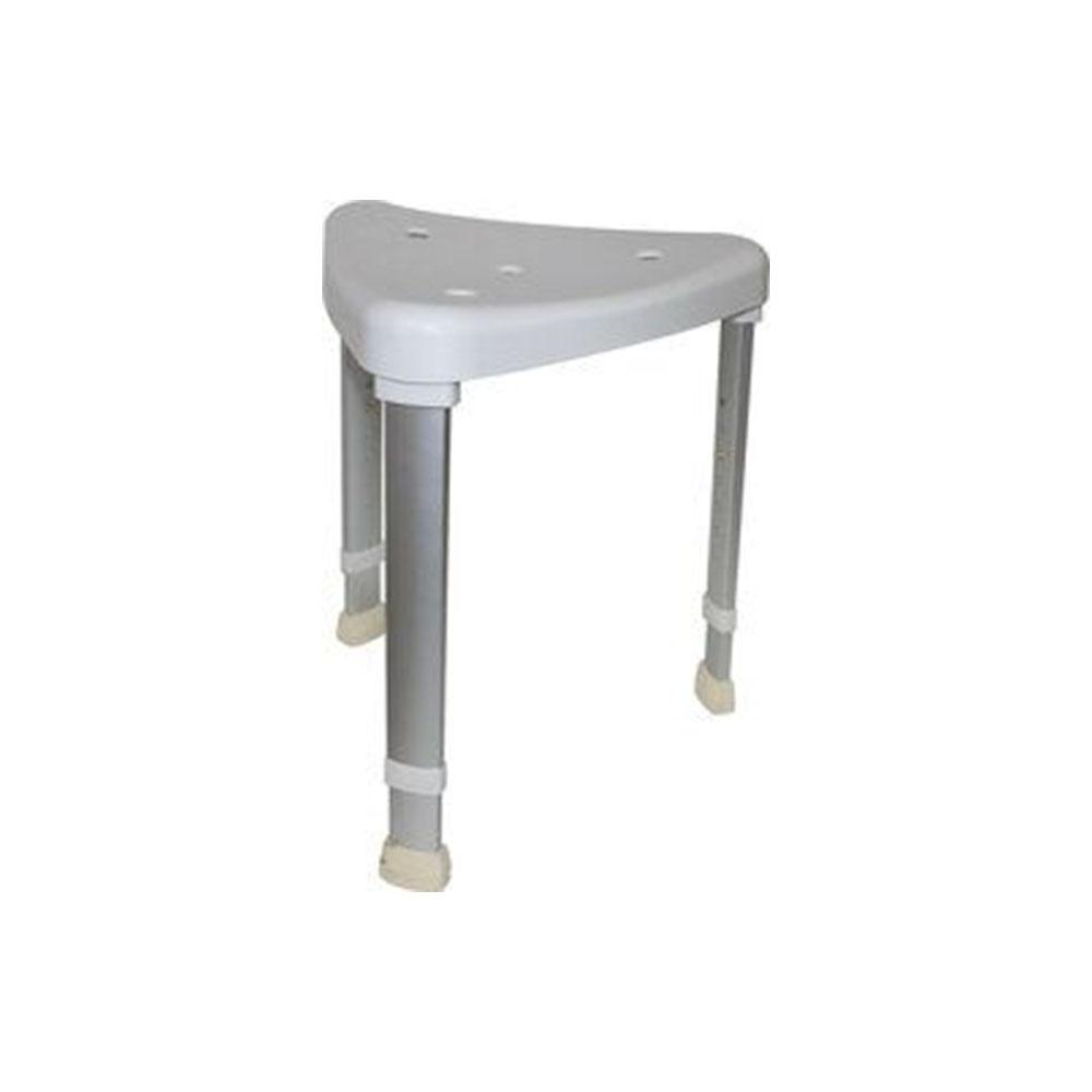 Mobilex AQUA Duschhocker dreieckig, höhenverstellbar, Farbe: Weiß