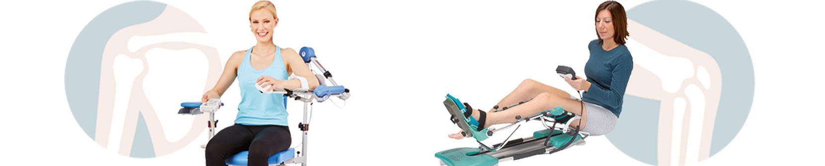 Die Versorgung mit einer CPM-Bewegungsschiene erfolgt per Mietservice auf Rezept