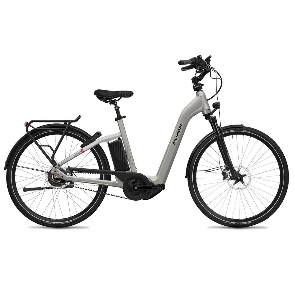 silber| FLYER E-Bike Gotour5 7.23 mit Comfort-Einstieg, Farbe: Silver gloss