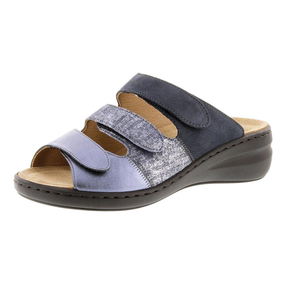 blau| Solidus Pantolette Spezial Ocean