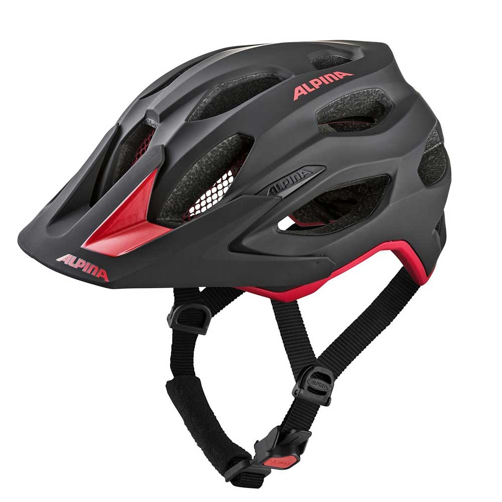 black-red| Alpina Carapax Mountainbike-Helm in Black-Red