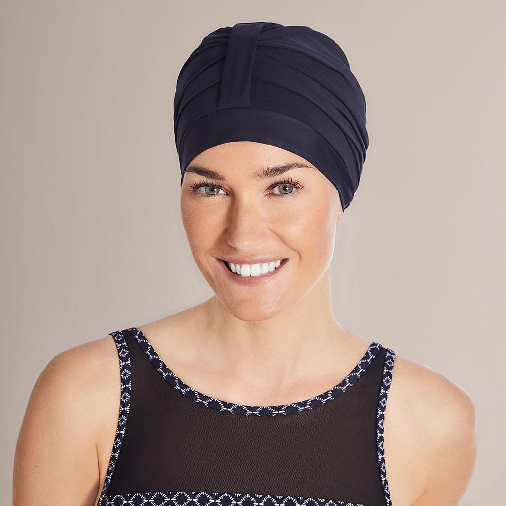 Schwarz  Die ideale Badekappe für nach der Chemotherapie
