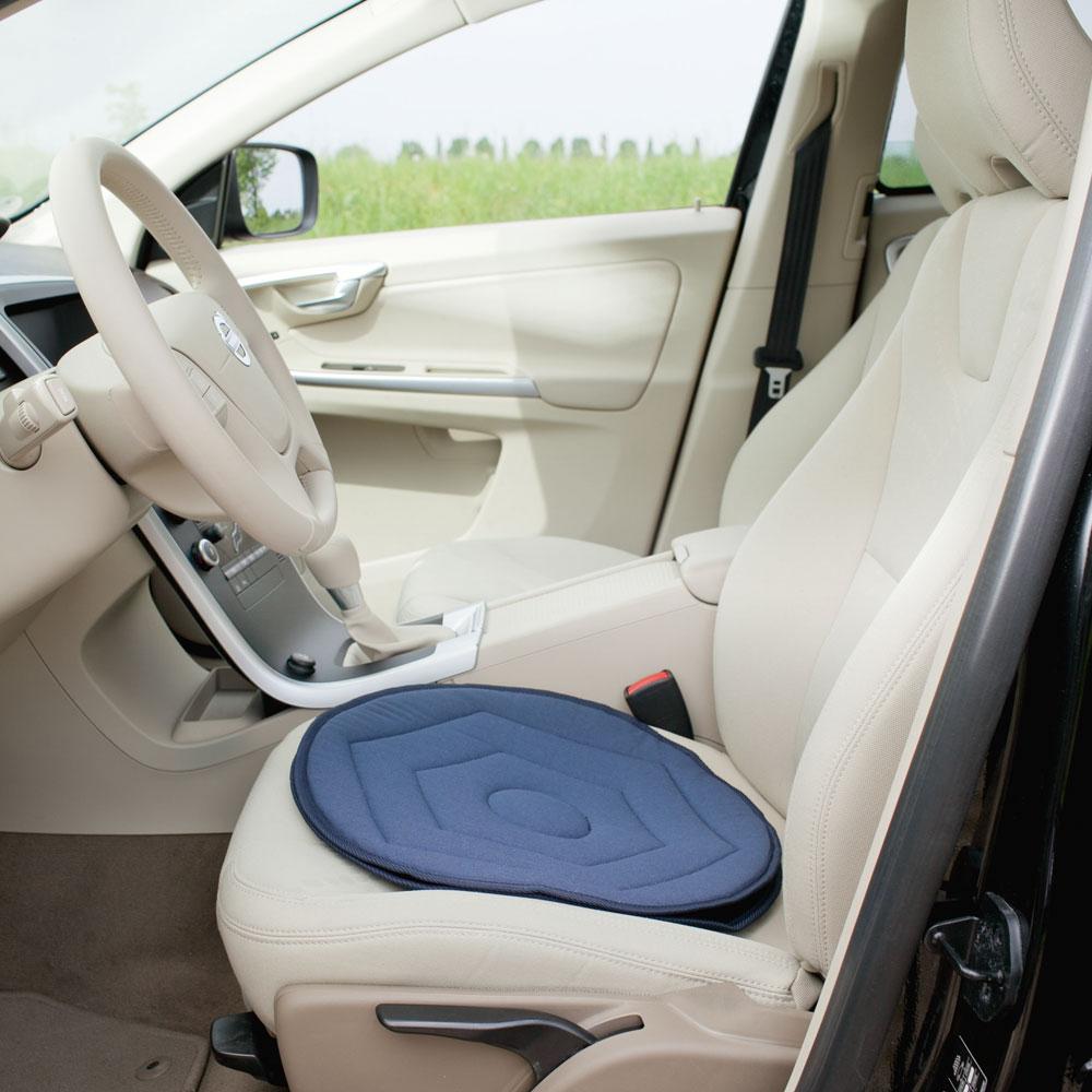 RUSSKA Flexibler Drehsitz für das Auto oder andere Sitzmöglichkeiten, Farbe: Blau