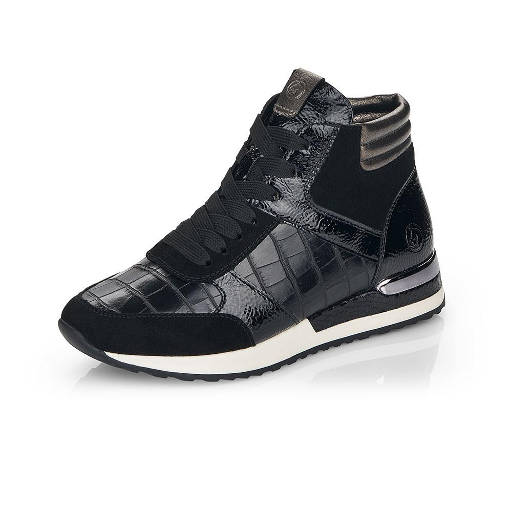 Remonte High-Top Sneaker in Schwarz