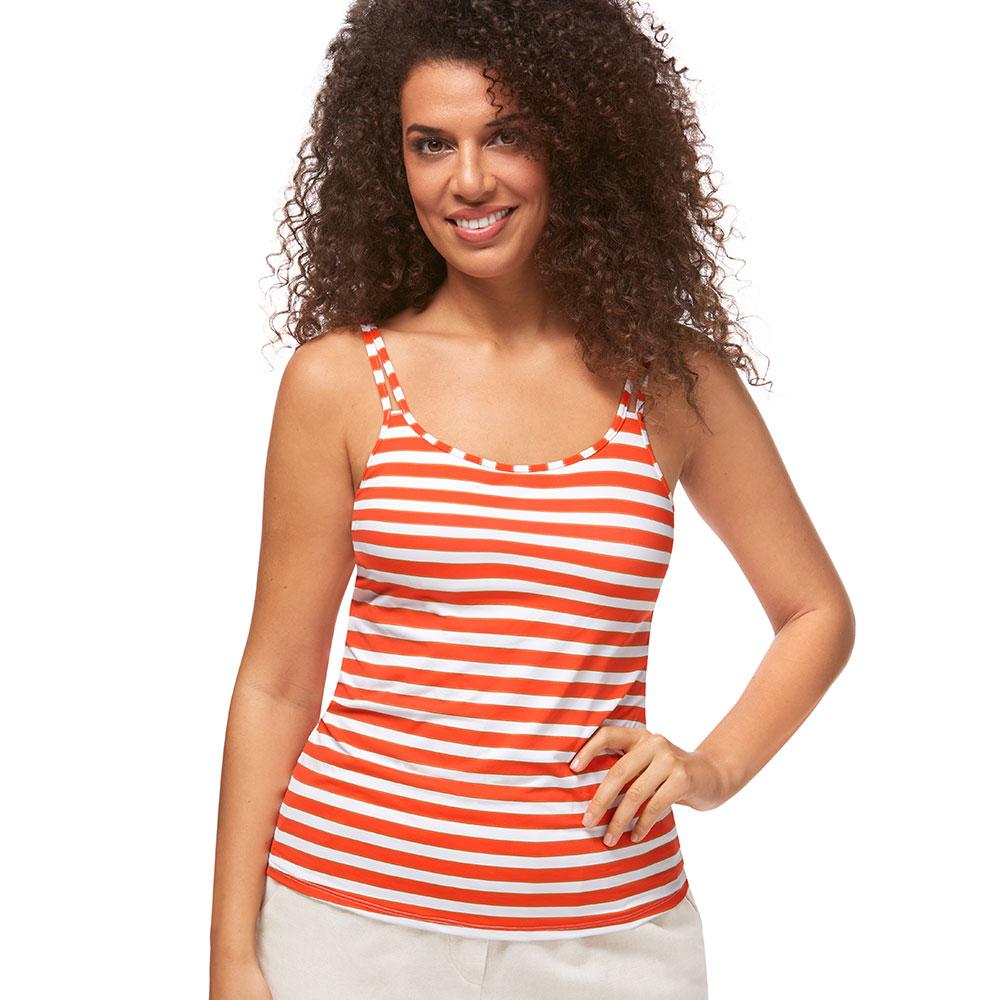 Amoena Sunset Chic Top orange Ansicht Model vorne