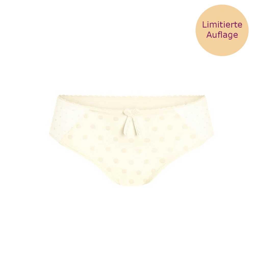 wolleiss| Amoena Kylie Panty in Wollweiß mit Samtpunkten und elastischem Netzmaterial
