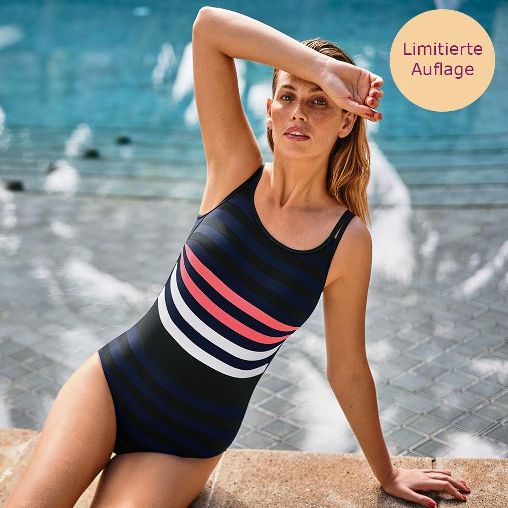 Anita care Venedig Prothesenbadeanzug mit tollem Streifendesign auf Vorder- und Rückseite