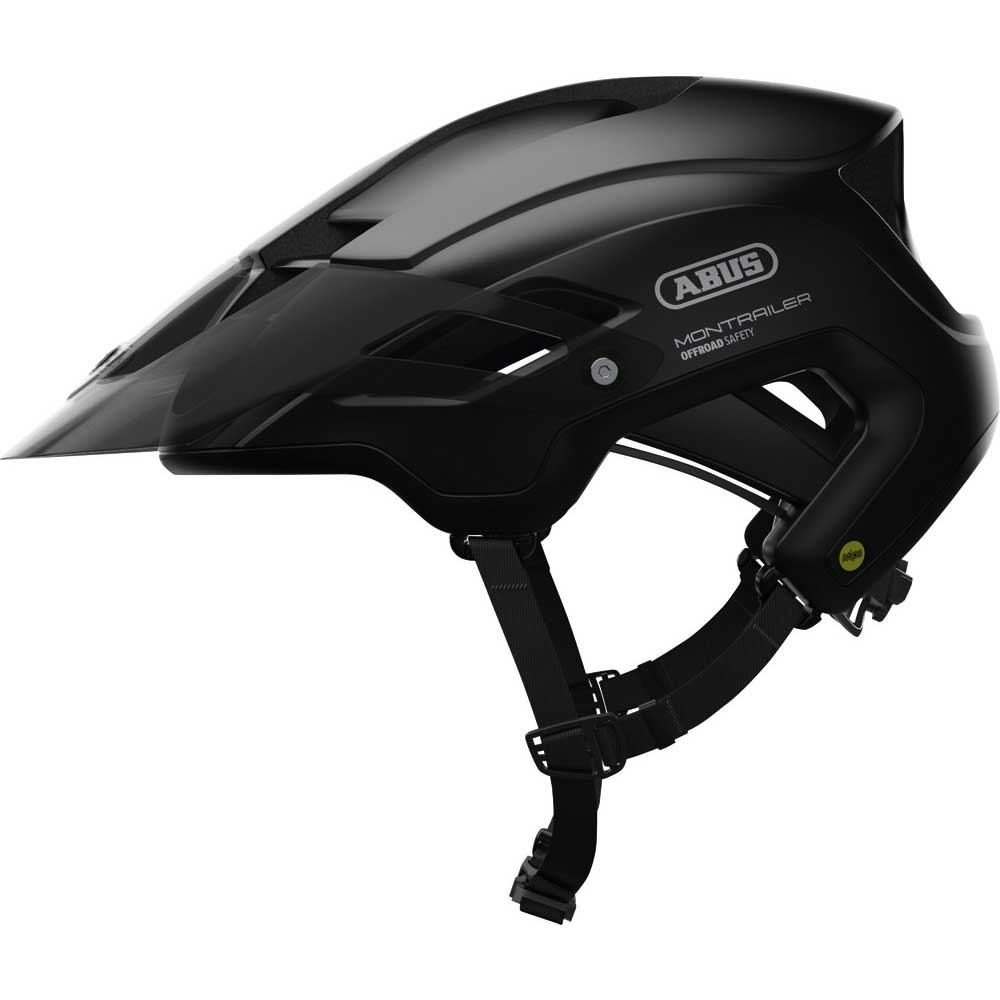 black| Abus Mountainbike-Helm MonTrailer MIPS in Black
