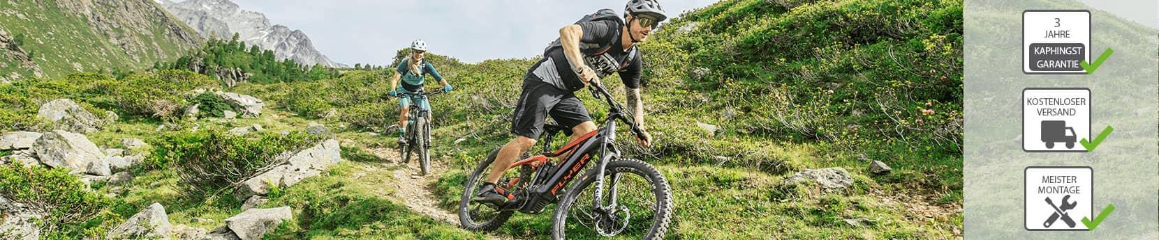 Mit E-Bikes in der Stadt, auf dem Land oder in den Bergen aktiv unterwegs