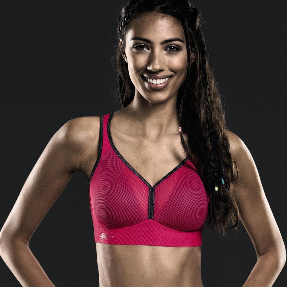 pink-anthrazit| Anita Sport-BH AIR CONTROL DeltaPad Pink/Anthrazit