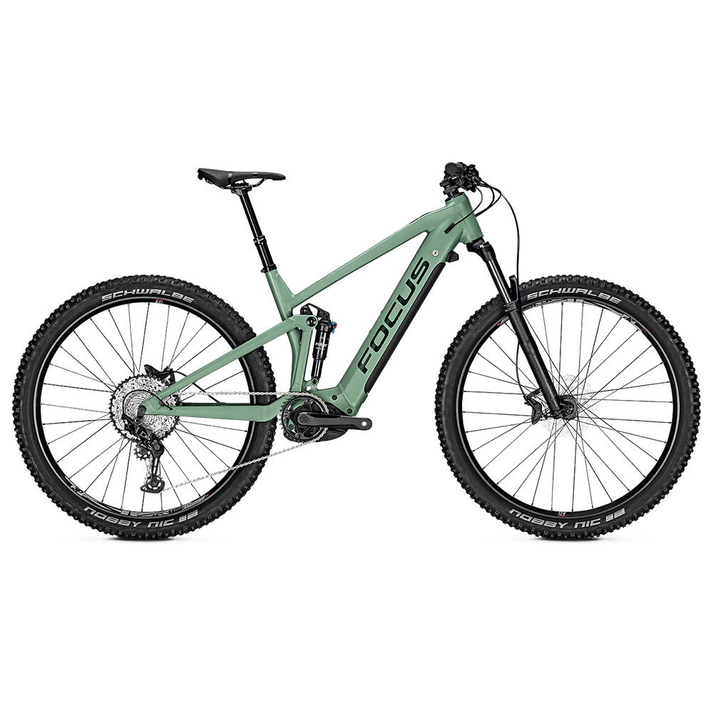 FOCUS E-Bike Thron2 6.8  in Green Seitenansicht