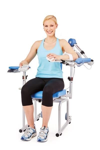 Mit dem Schulterstuhl das Gelenk schonend  mobilisieren