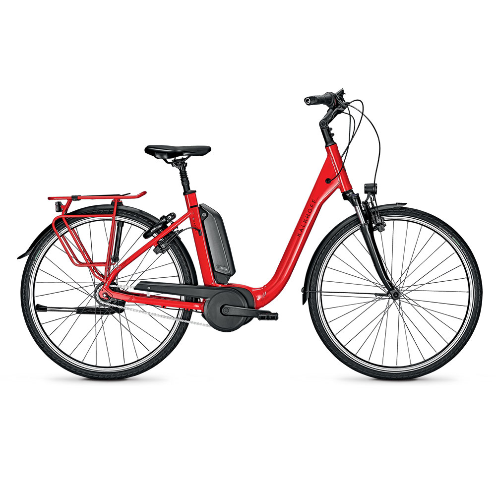 Kalkhoff E-Bike Agattu 1.B Advance in Rot mit Comforteinstieg