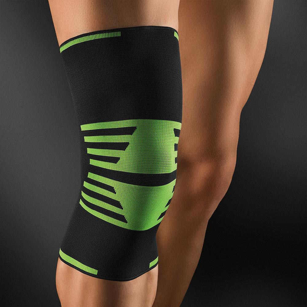 Bort Active Color Sport Kniebandage in grün-schwarz