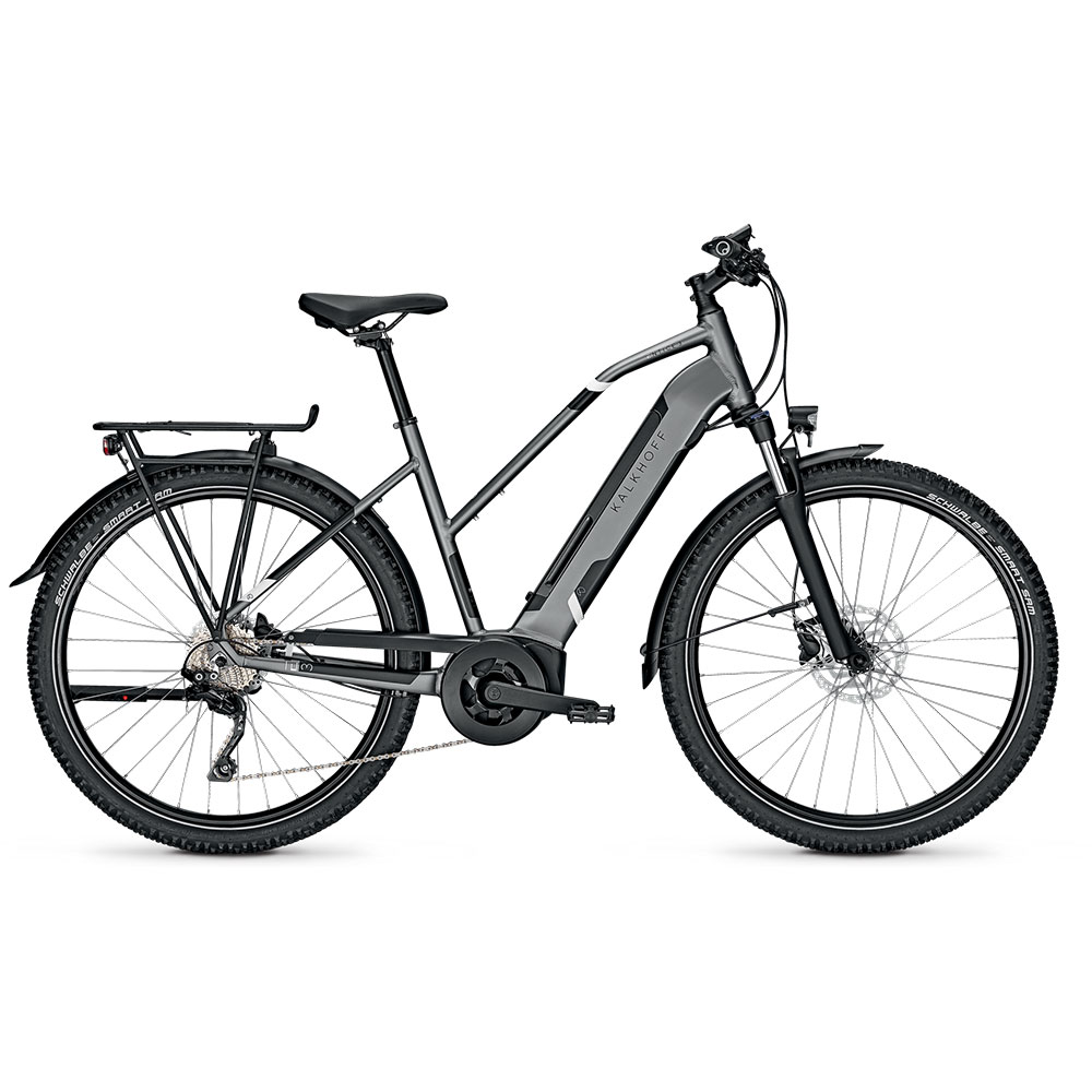 Kalkhoff E-Bike Entice 3B Advance  Herrenrahmen Waverahmen in Grau