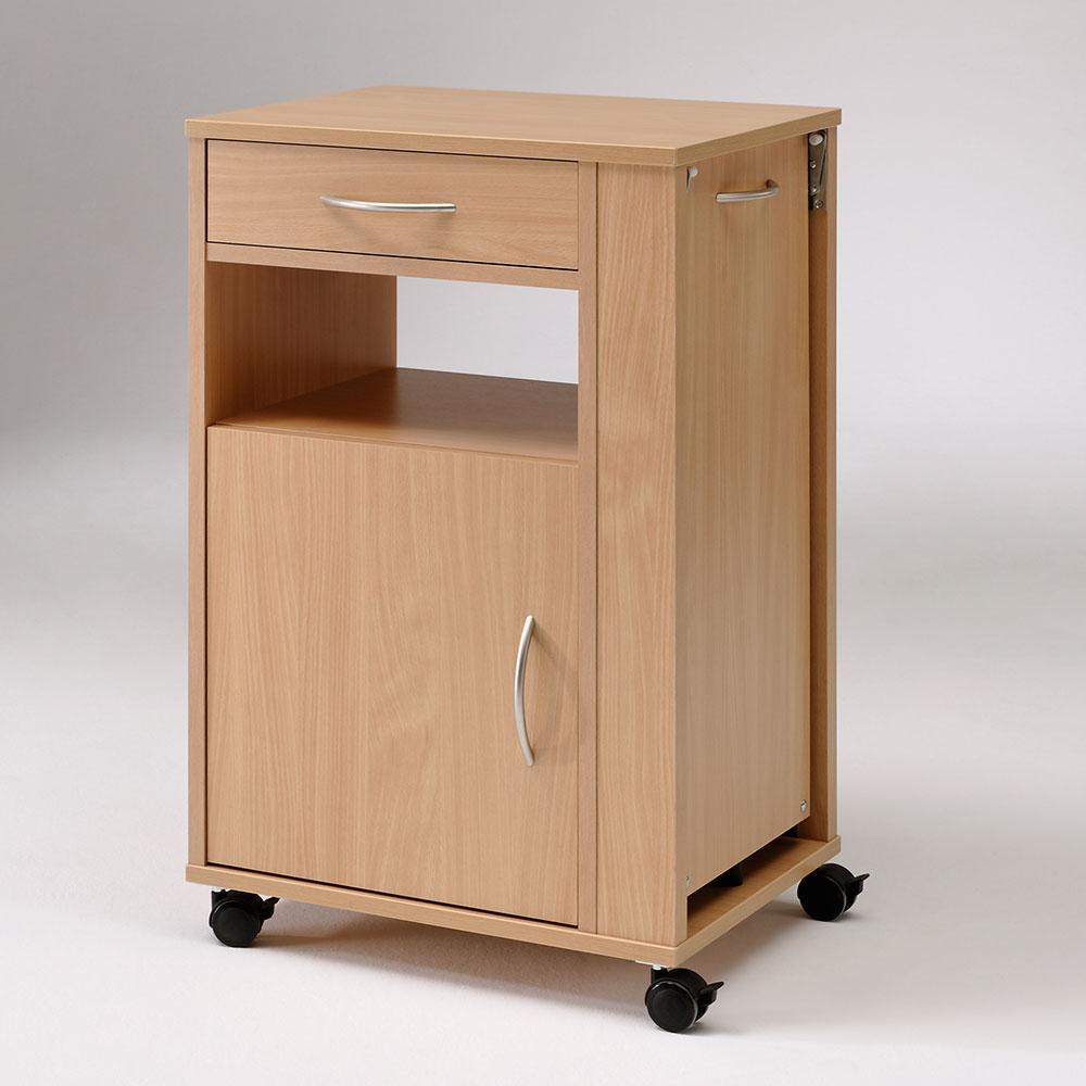 Burmeier Nachttisch Hermann, praktischer und stabiler Nachttisch für Pflegebetten