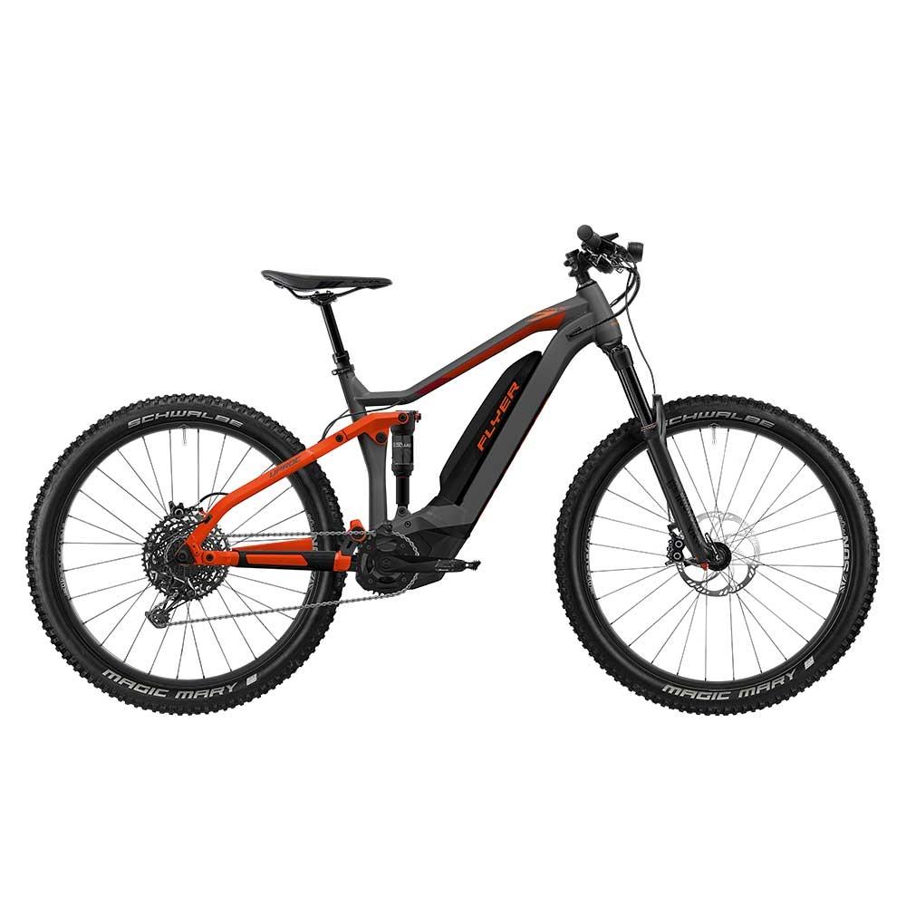 rot  E-Bike FLYER Uproc7 6.50 in Anthrazite / Red Matt