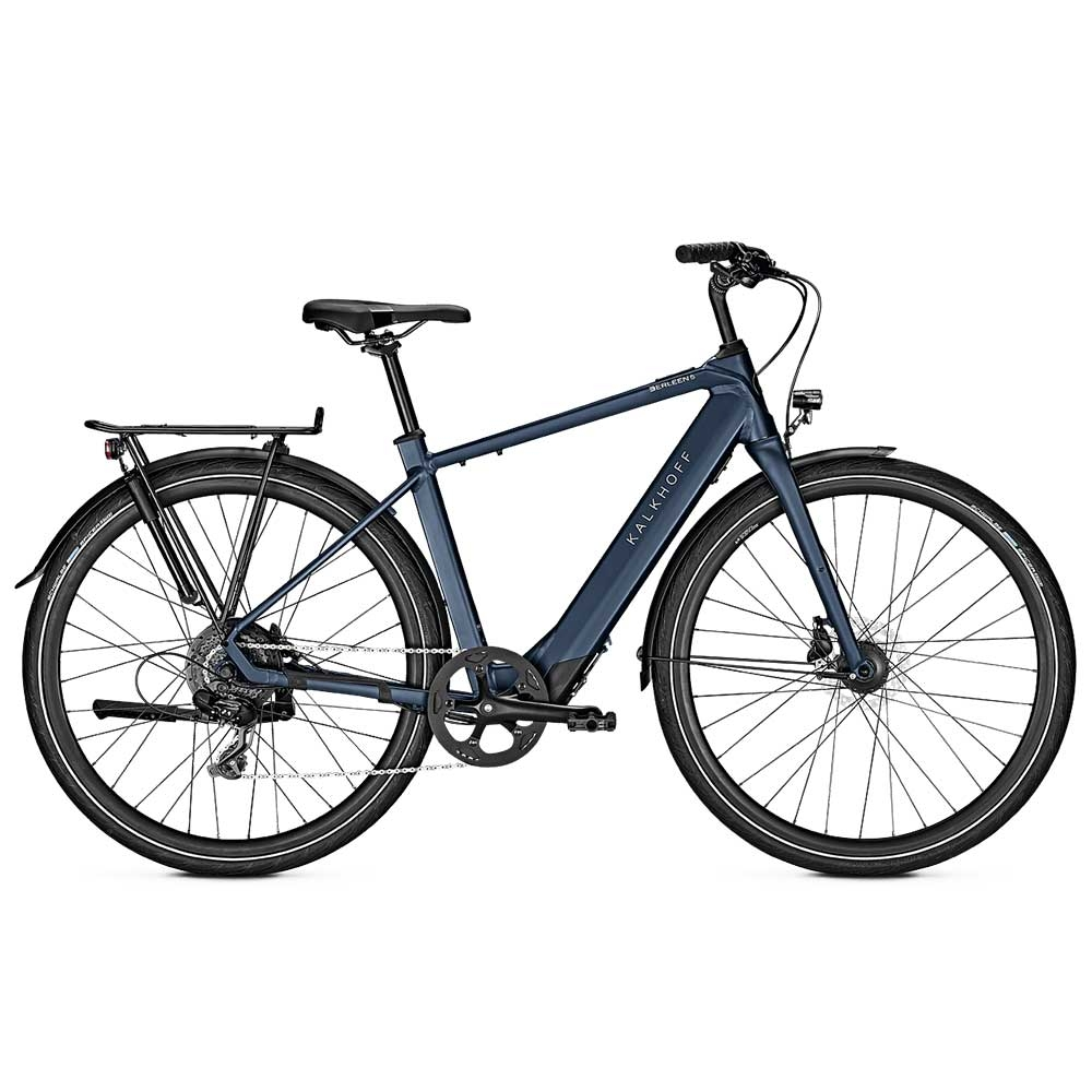 blue| Kalkhoff E-Bike Berleen 5.G Move, Diamant Herrenrahmen, Farbe: Sidneyblue matt
