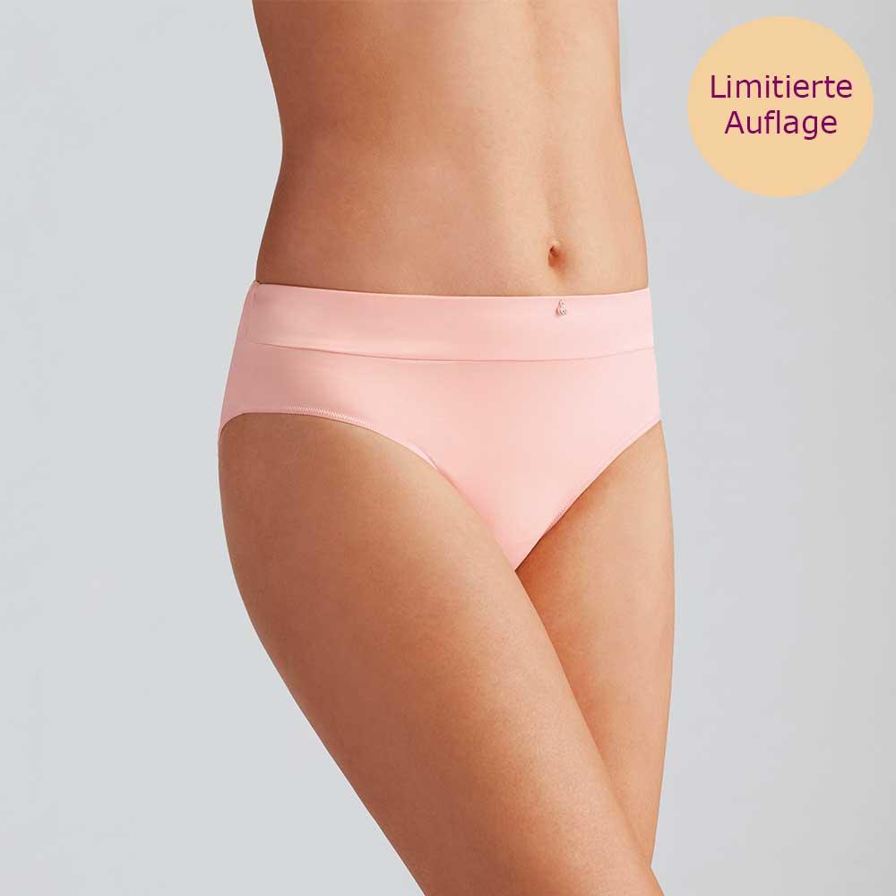 Amoena Lara Satin Panty Helles Rosa, weiche Panty mit satiniertem Bund und kleinem Strasssteinchen auf der Vorderseite