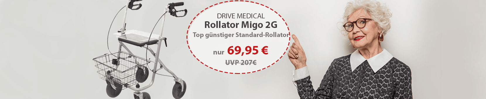 Banner Drive Medical Rollator Migo 2G