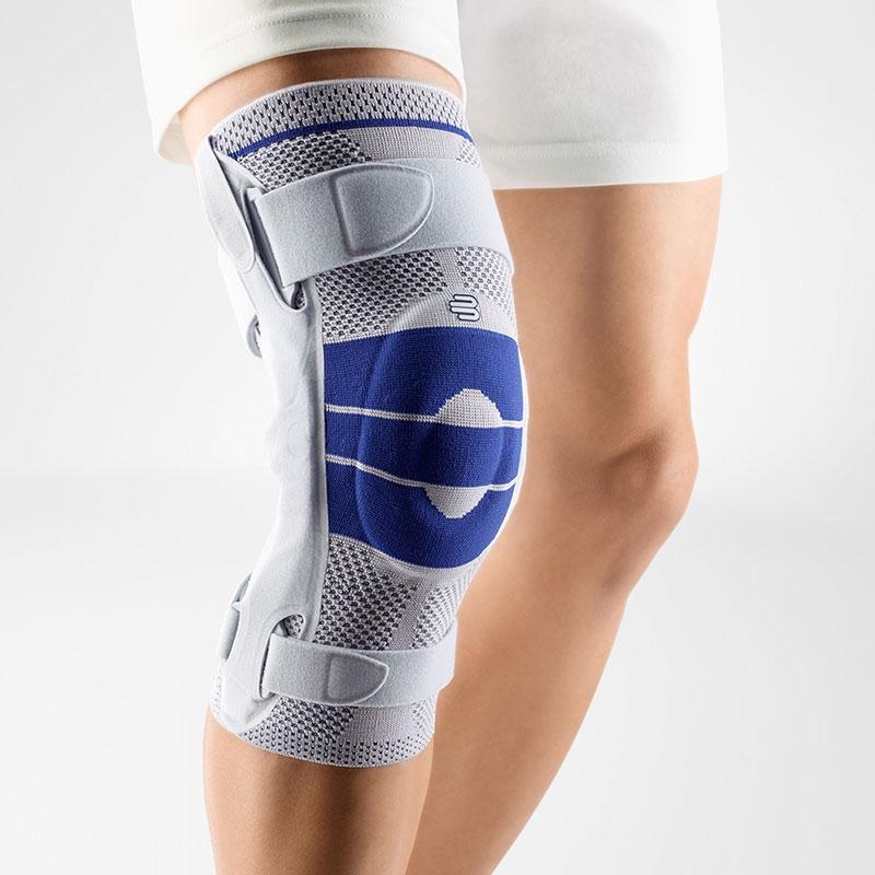 Bauerfeind GenuTrain® S Kniebandage mit seitlichen Gelenkschienen für mehr Halt im Kniegelenk