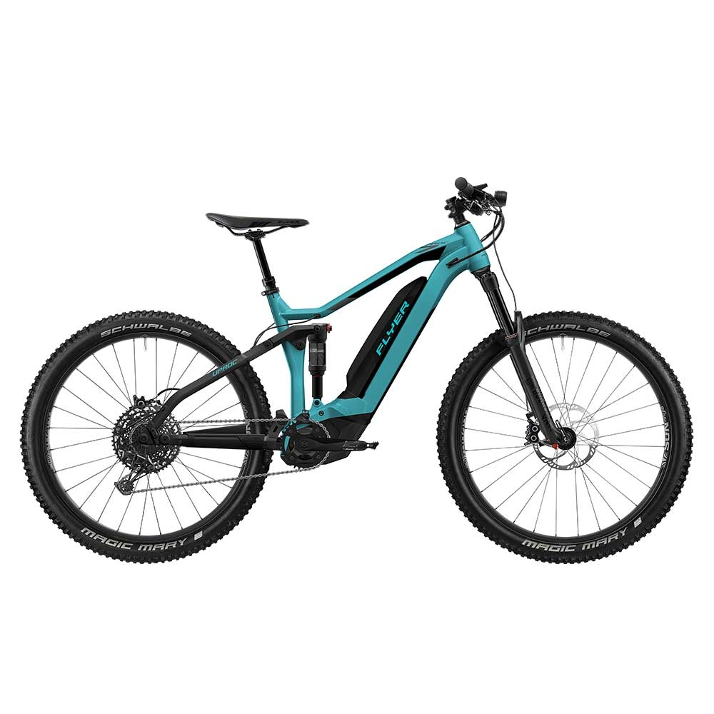 blau| E-Bike FLYER Uproc7 6.50 in Pool Blue / Black Matt