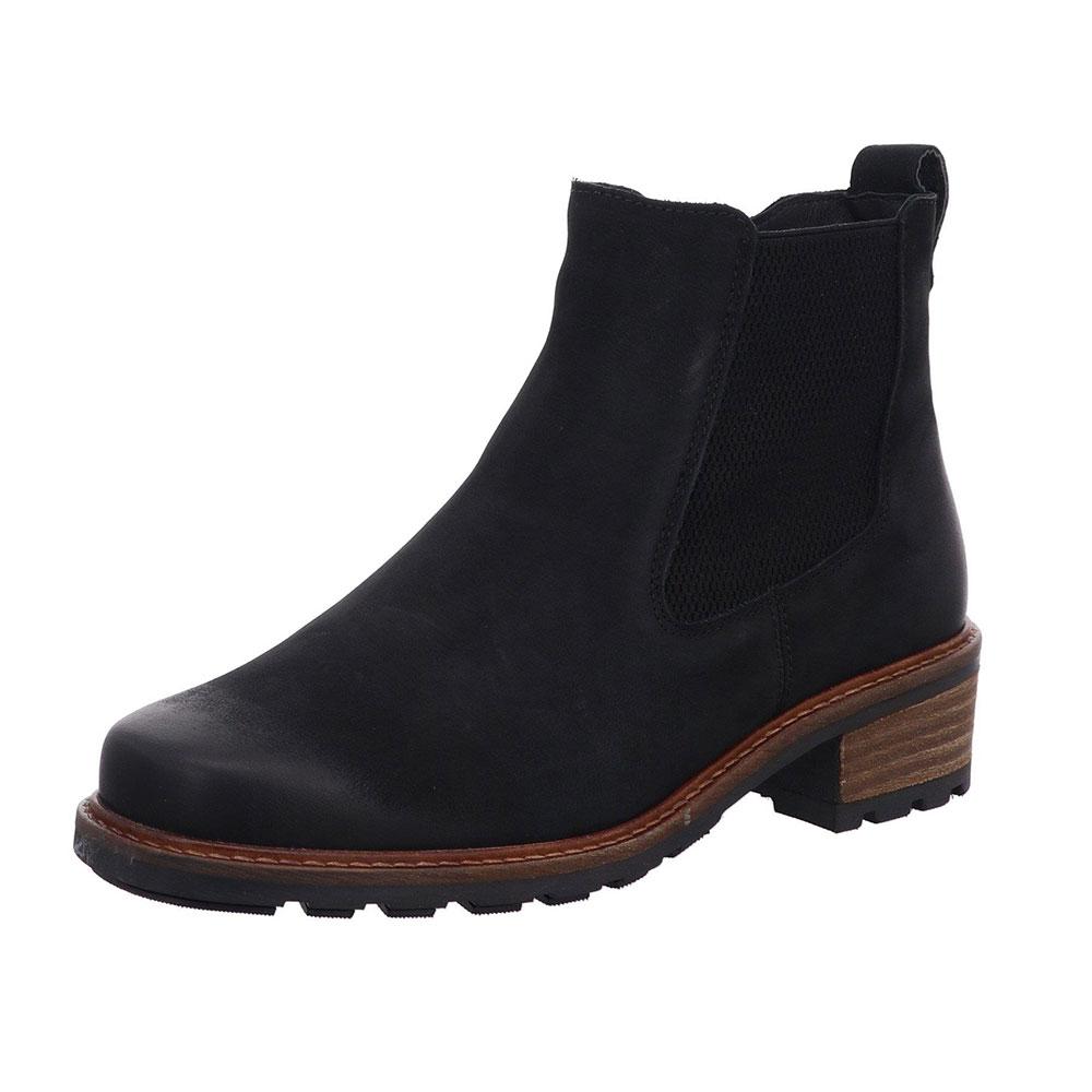 Solidus Chelsea-Boots Kinga in Schwarz aus weichem Leder
