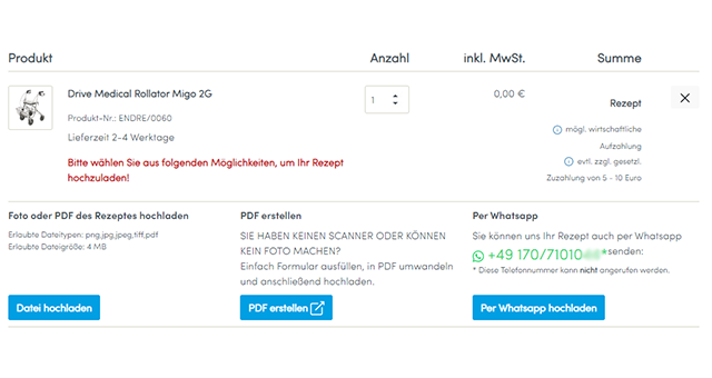 PDF erstellen, Bild oder PDF hochladen, per WhatsApp senden: Sie haben 3 Möglichkeiten