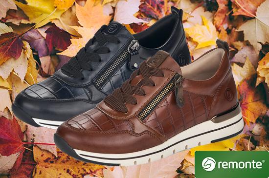 Herbstliche Sneaker von Marken wie Remonte und mehr